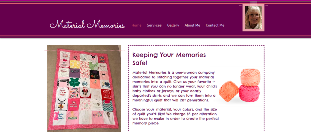 Website Home screenshot