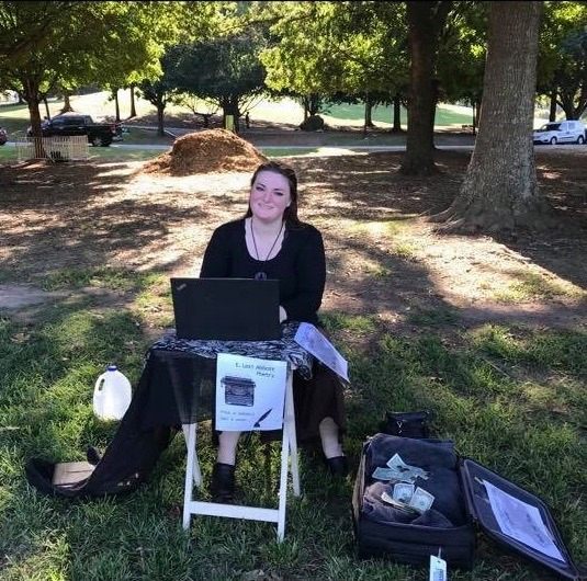 Poetry on-the-spot in Piedmont Park